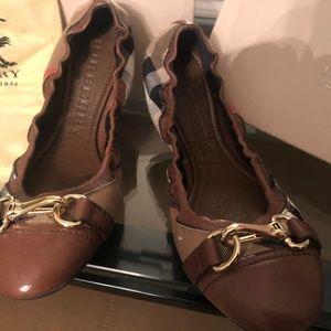 Burberry Heritage Housecheck Ballerina Shoes